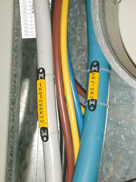 PUSH-ON FLAT RING CABLE MARKERS FMS