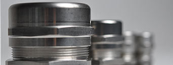 Steel cable glands and fixing components